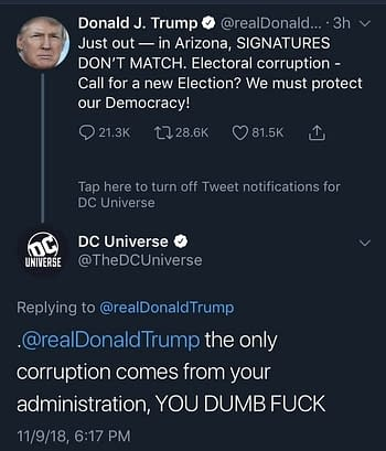 DC Universe's Twitter Hacked, Insults Donald Trump