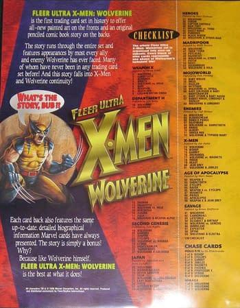1996 Fleer Ultra X-Men: Wolverine Ad 2