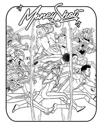 A page from Vault's free coloring book.