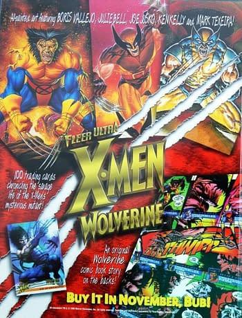 1996 Fleer Ultra X-Men: Wolverine Ad 1