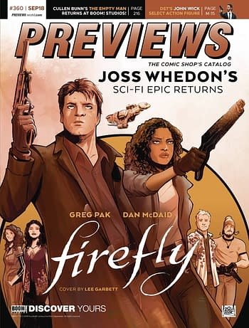 Firefly and Alan Moore on Front of Next Week's Diamond Previews Publications