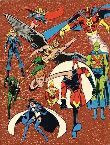 Leaf's DC Super Heroes Collector Album Back Cover