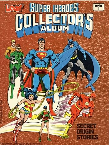 Leaf's DC Super Heroes Collector Album Front Cover