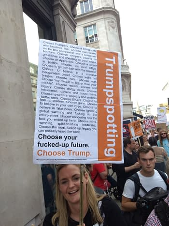 The Best Pop Culture Placards I Saw at the Trump Protest March in London