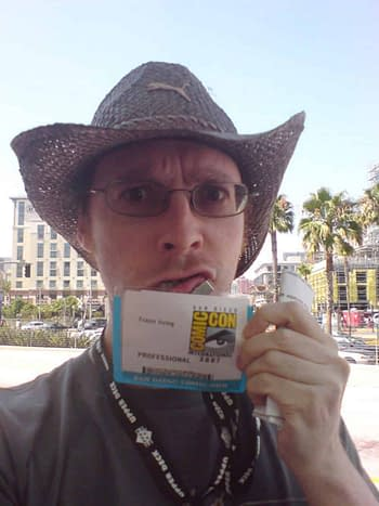 Frazer Irving at San Diego Comic-Con.