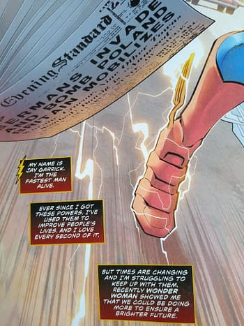 Jay Garrick Was Now Inspired By Wonder Woman in 1940 – Flash #750 Spoilers