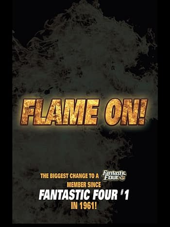 The Human Torch - Flame On. Forever in Fantastic Four #36