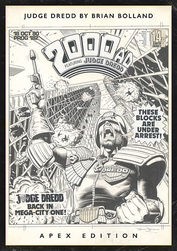 Cover image for JUDGE DREDD BY BRIAN BOLLAND APEX ED HC