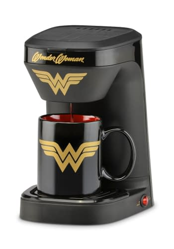 The Single Brew Wonder Woman Coffee Maker from Fun.com for your nerdy office.