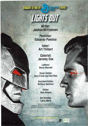 Batman V Superman #4 Credits Page