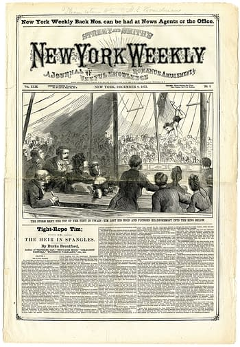 New York Weekly Vol. XXIX No. 5, December 8, 1873, published by Street & Smith.