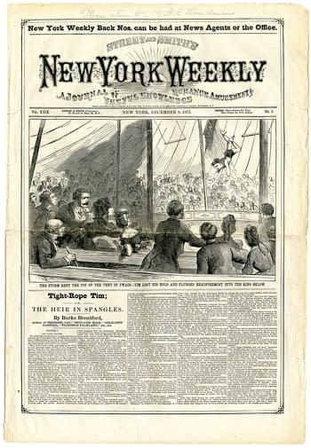 New York Weekly Volume 24 Number 5 1873-12-05 Tight Rope Tim, published by Street & Smith.