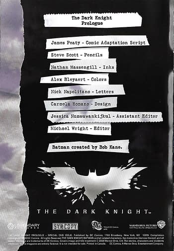 The Dark Knight Prologue #1 Front Cover