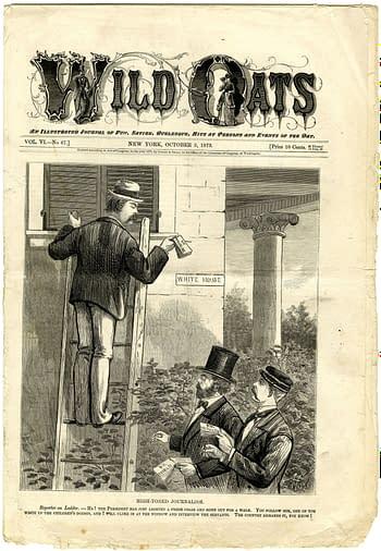 Comic paper Wild Oats, October 3, 1873.
