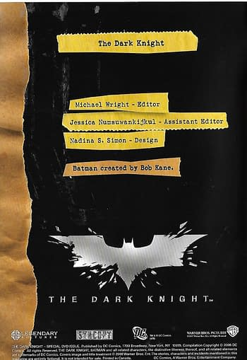 The Dark Knight Special #1 Credits