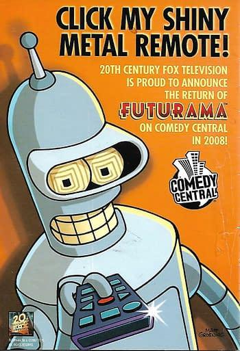 Futurama Returns Back Cover