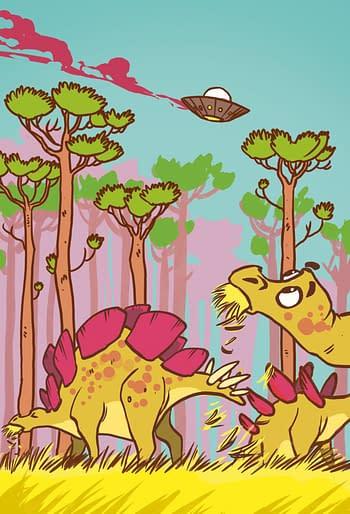 Jeff In The Jurassic, New Graphic Novel Trilogy byRust's Royden Lepp
