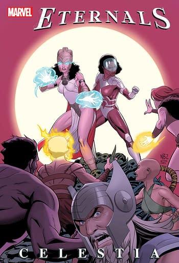 Eternals: Celestia Ties In With Avengers 1,000,000 BC in October