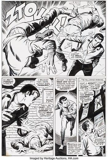 John Buscema and Jim Mooney Amazing Spider-Man #78 Story Page 10 Prowler Original Art (Marvel, 1969)