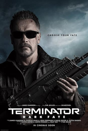 """4 New Character Posters for """"Terminator: Dark Fate"""""""
