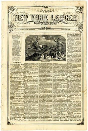 New York Ledger Vol. XXV No. 13, May 22, 1869, published by Robert Bonner.