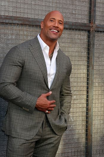 "Dwayne Johnson, The Rock at the ""Rampage"" Premiere at Microsoft Theater on April 4, 2018 in Los Angeles, CA"