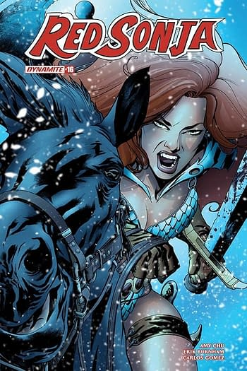 Exclusive Extended Previews of Red Sonja / Tarzan #2, Red Sonja #16, and More