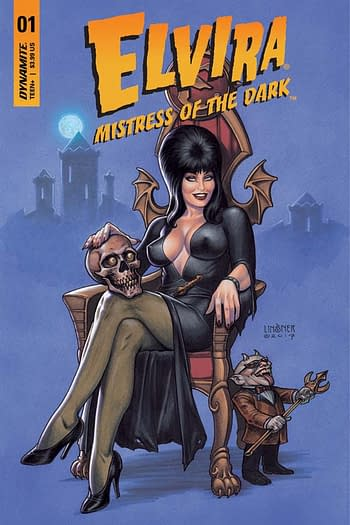 The cover to Elvira #1, one of several Dynamite free first issues.
