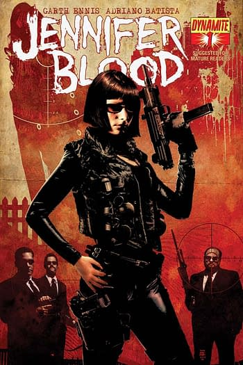 The cover to Jennifer's Blood #1, one of many Dynamite free first issues.