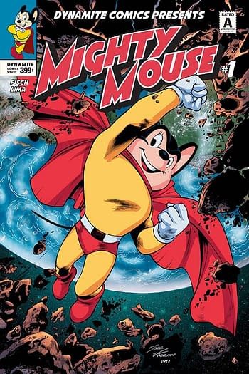 The Mighty Mouse #1 cover from Dynamite Entertainment.