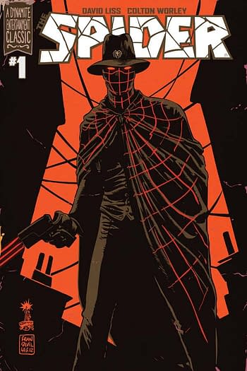 Spider #1, one of many free first issues from Dynamite Entertainment.
