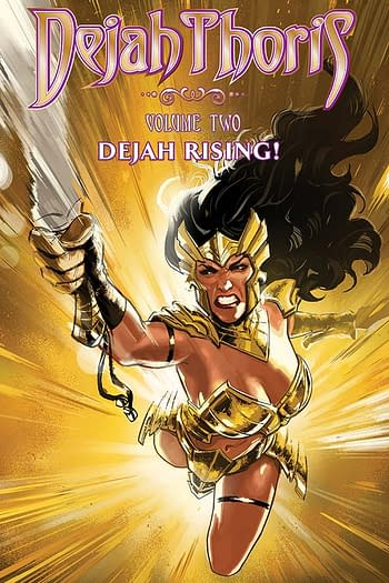 The cover to Dejah Thoris Vol. 2: Dejah Rising! from Dynamite