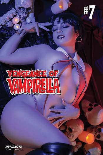One of the covers to Vengeance of Vampirella #7 from Dynamite Entertainment
