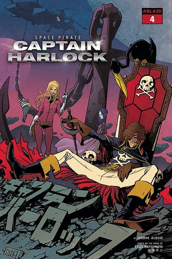 Cover image for SPACE PIRATE CAPT HARLOCK #4 CVR A PEREZ