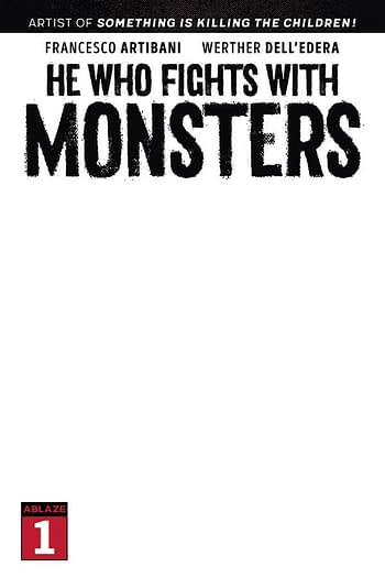 Cover image for HE WHO FIGHTS WITH MONSTERS #1 CVR E BLANK SKETCH CVR (MR) (