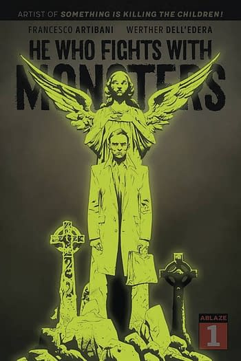 Cover image for HE WHO FIGHTS WITH MONSTERS #1 CVR I 40 COPY LEE GLOW DARK (