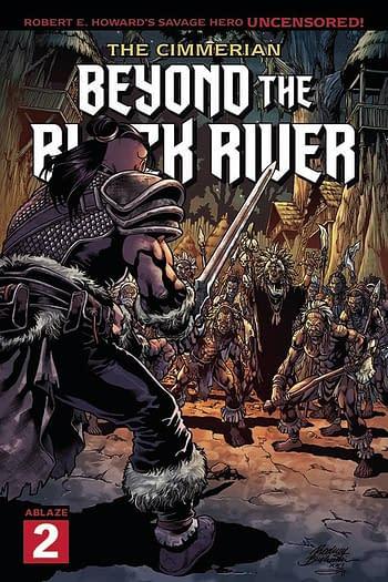 Cover image for CIMMERIAN BEYOND THE BLACK RIVER #2 CVR B BUCHEMI (MR)