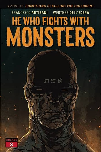 Cover image for HE WHO FIGHTS WITH MONSTERS #3 CVR B MICHAEL DIALYNAS (MR) (