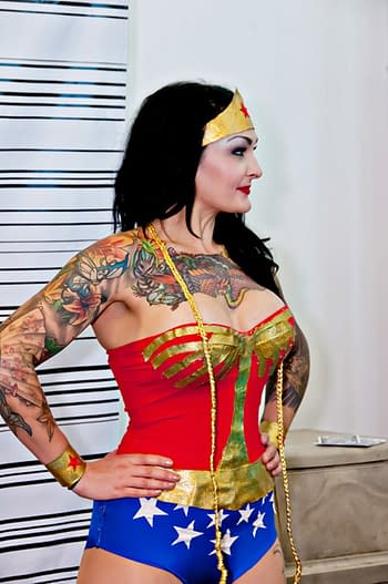 Wonder Woman Cosplay, Michael Grey and The Daily LITG, 6th May 2020.