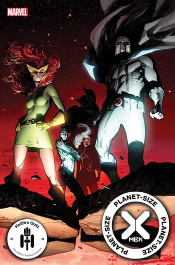 The cover to Planet-Size X-Men, the latest cash gra... er, extra-value offering from the House of Ideas.