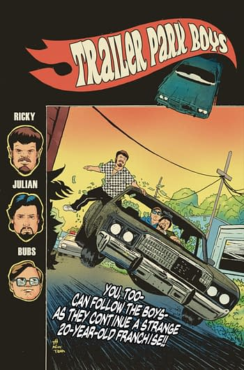 Cover image for TRAILER PARK BOYS BAGGED & BOARDED CVR A HYMEL (ONE-SHOT) (M