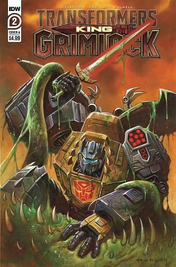 Cover image for TRANSFORMERS KING GRIMLOCK #2 (OF 5) CVR A HORLEY
