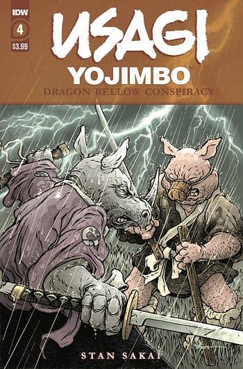Cover image for USAGI YOJIMBO DRAGON BELLOW CONSPIRACY #4 (OF 6)