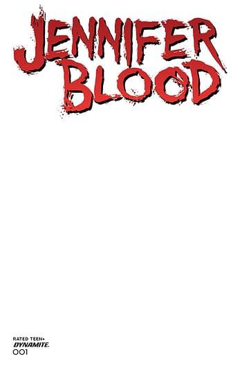 Cover image for JENNIFER BLOOD #1 CVR F BLANK AUTHENTIX (MR)