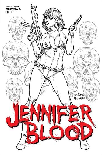 Cover image for JENNIFER BLOOD #1 CVR J 25 COPY INCV LINSNER B&W (MR)