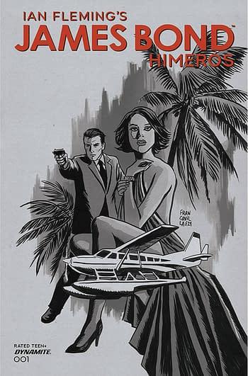 Cover image for JAMES BOND HIMEROS #1 CVR D 10 COPY INCV FRANCAVILLA B&W