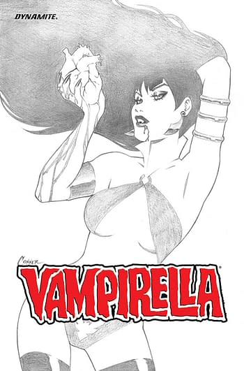 Cover image for VAMPIRELLA ASCENDING EVIL B&W ED CVR
