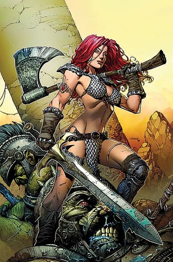 Cover image for RED SONJA PRICE OF BLOOD FINCH SP ED METAL CVR