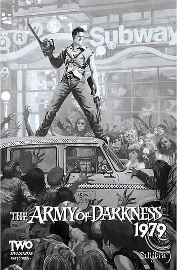Cover image for ARMY OF DARKNESS 1979 #2 CVR E 10 COPY INCV SUYDAM B&W
