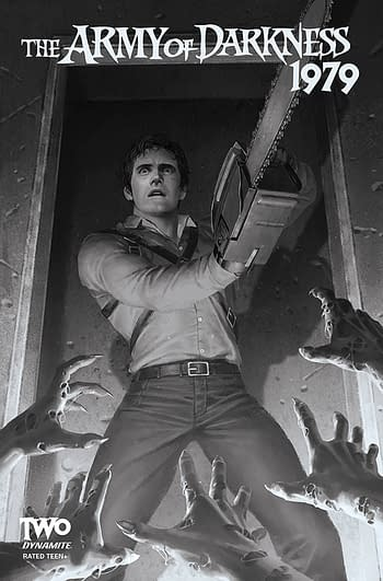 Cover image for ARMY OF DARKNESS 1979 #2 CVR G 20 COPY INCV YOON B&W